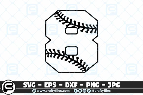 8 Base Ball Numbers Graphic Crafts By Crafty Files