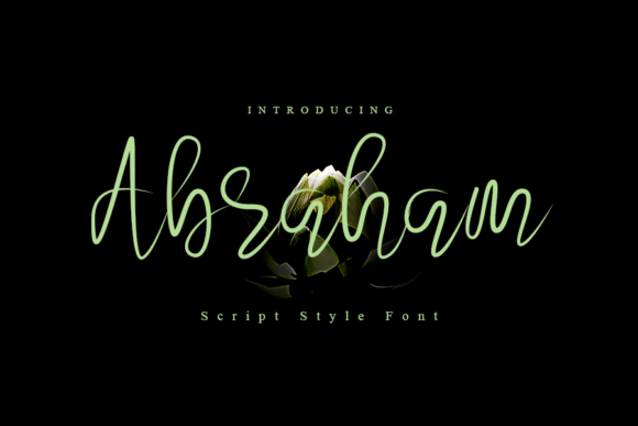 Print on Demand: Abraham Script & Handwritten Font By K_IN Studio
