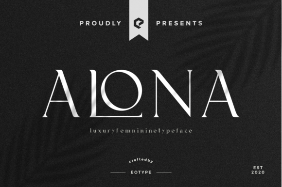 Print on Demand: Alona Display Font By eotype