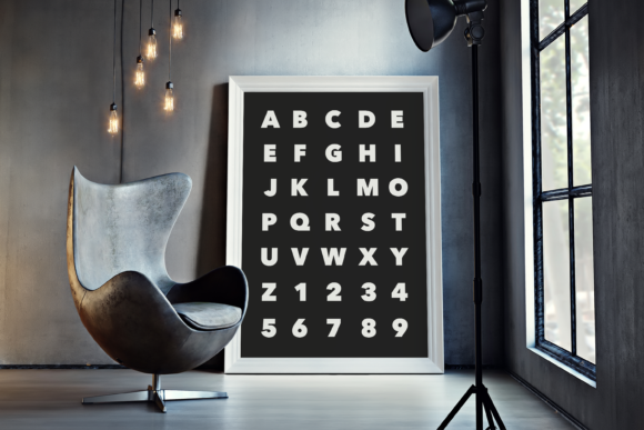 Download Free Alphabet Black Background Wall Art Print Graphic By Handriwork for Cricut Explore, Silhouette and other cutting machines.