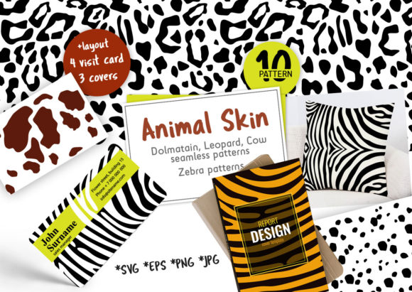 Download Free Animal Print Seamless Pattern Pack Graphic By Koni Creative for Cricut Explore, Silhouette and other cutting machines.