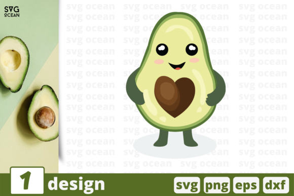 Download Free Avocado Graphic By Svgocean Creative Fabrica for Cricut Explore, Silhouette and other cutting machines.