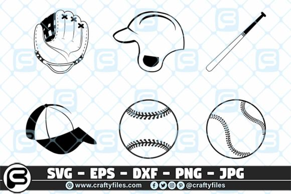 Base Ball Glove Bundle Graphic Crafts By Crafty Files