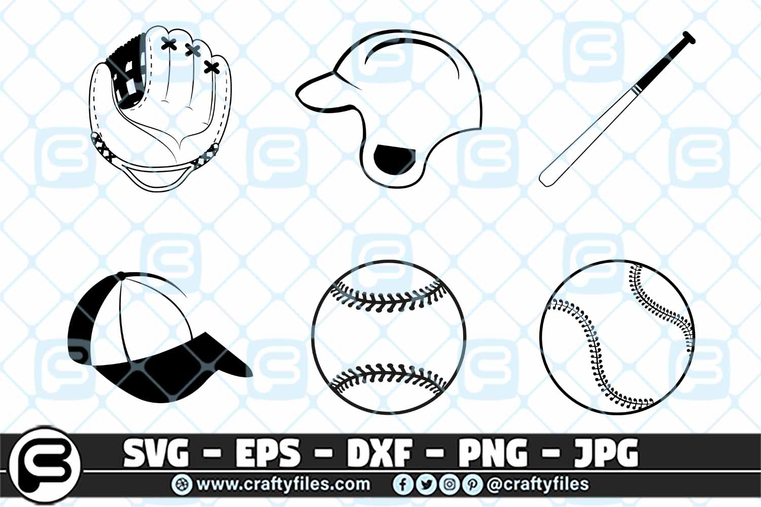 Download Free Base Ball Glove Bundle Graphic By Crafty Files Creative Fabrica for Cricut Explore, Silhouette and other cutting machines.