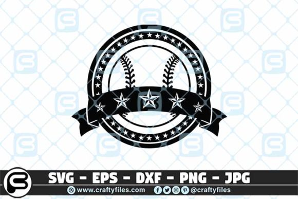 Base Ball Five Star Graphic Crafts By Crafty Files