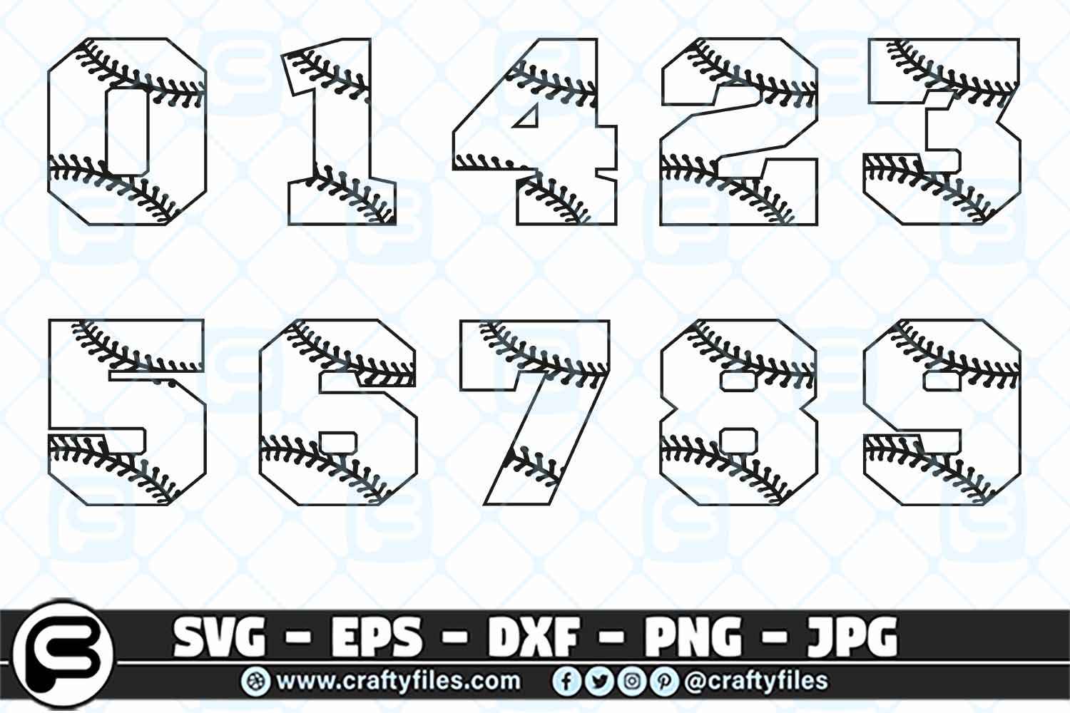Download Free Baseball Bundle Spilite Numbers Svg Graphic By Crafty Files for Cricut Explore, Silhouette and other cutting machines.