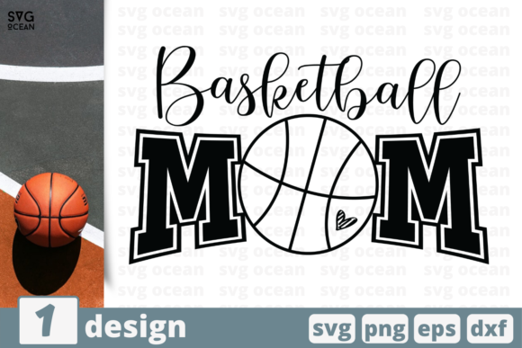 Download Free Basketball Mom Graphic By Svgocean Creative Fabrica for Cricut Explore, Silhouette and other cutting machines.