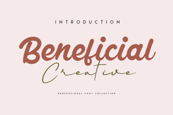 Print on Demand: Beneficial Script & Handwritten Font By CREATIVEWHITE