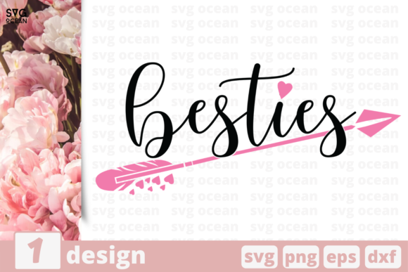 Download Free Besties Graphic By Svgocean Creative Fabrica for Cricut Explore, Silhouette and other cutting machines.