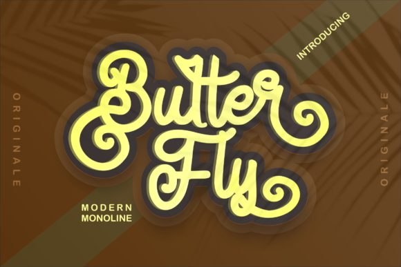 Print on Demand: Butter Fly Script & Handwritten Font By Vunira