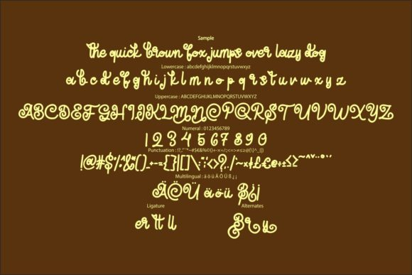 Butter Fly Font Image