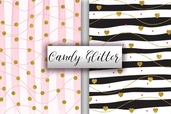Candy Gold Glitter Background Graphic Backgrounds By PinkPearly - Image 2