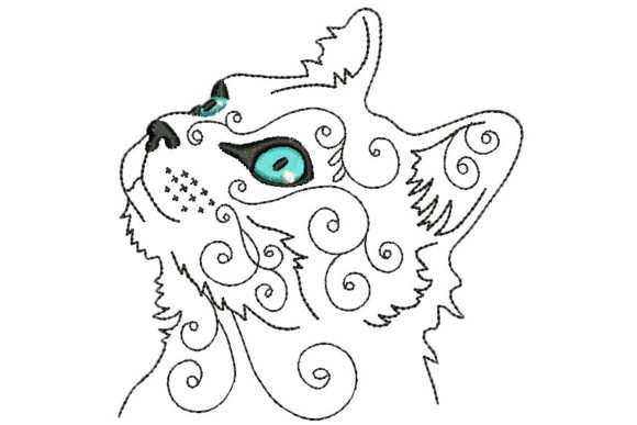 Cat 2 Cats Embroidery Design By BabyNucci Embroidery Designs