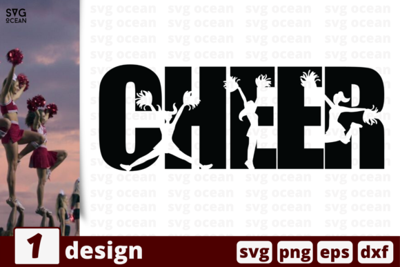 Download Free Cheer Graphic By Svgocean Creative Fabrica for Cricut Explore, Silhouette and other cutting machines.
