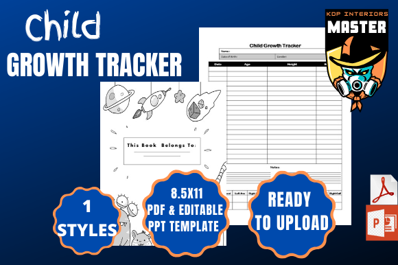 Print on Demand: Child Growth Tracker Graphic KDP Interiors By KDP_Interiors_Master
