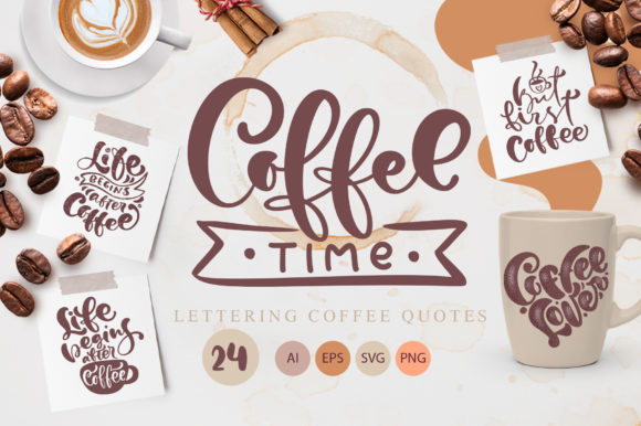 Coffee Time  Graphic Illustrations By Happy Letters