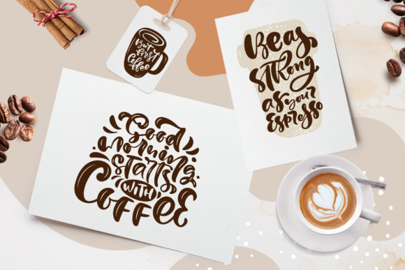 Download Free Coffee Time Graphic By Happy Letters Creative Fabrica for Cricut Explore, Silhouette and other cutting machines.
