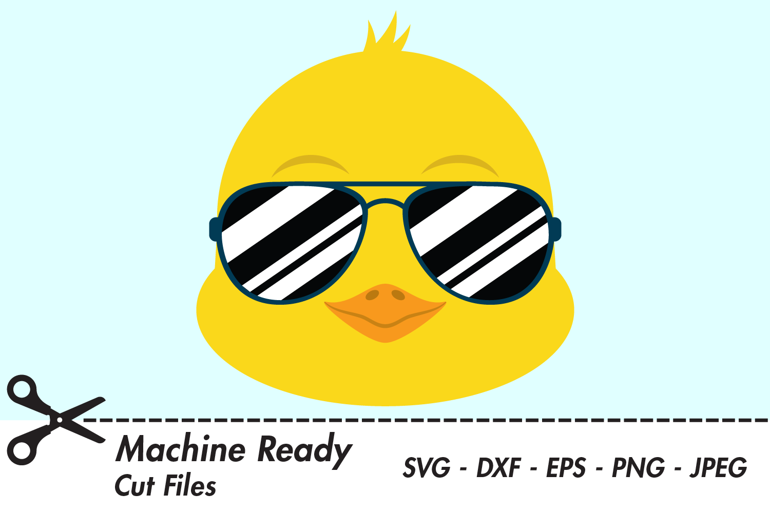 Download Free Cool Boy Chick Face With Shades Graphic By Captaincreative for Cricut Explore, Silhouette and other cutting machines.