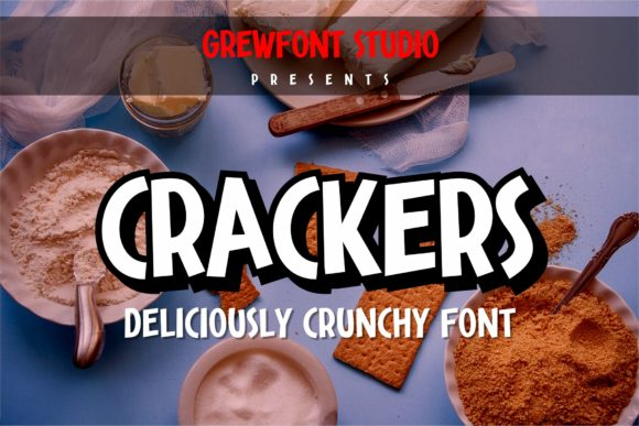 Print on Demand: Crackers Display Schriftarten von grewfont.studio