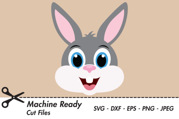 Download Free Cute Boy Bunny Rabbit Face Graphic By Captaincreative Creative for Cricut Explore, Silhouette and other cutting machines.