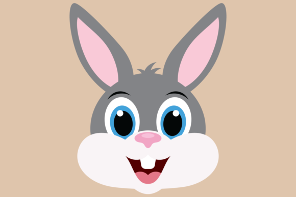Download Free Cute Boy Bunny Rabbit Face Graphic By Captaincreative Creative SVG Cut Files