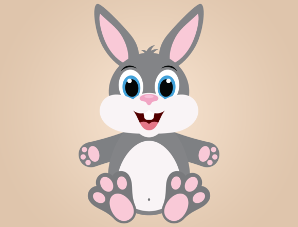 Download Free Cute Boy Bunny Rabbit With Easter Eggs Graphic By for Cricut Explore, Silhouette and other cutting machines.