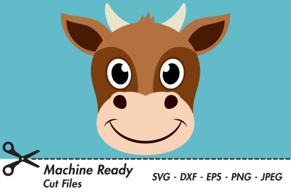 Download Free Cute Boy Cow Face Graphic By Captaincreative Creative Fabrica for Cricut Explore, Silhouette and other cutting machines.
