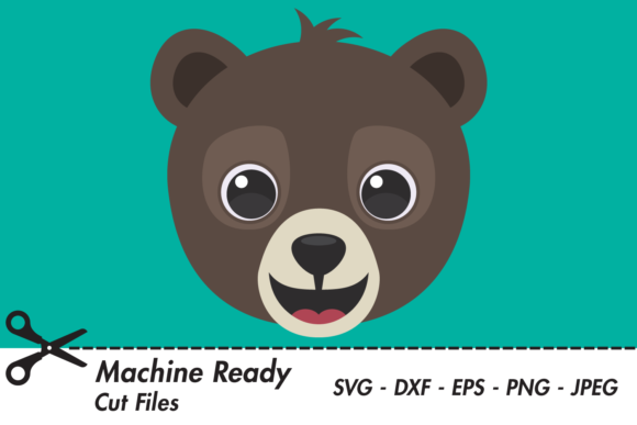 Download Free Cute Boy Grizzly Bear Face Graphic By Captaincreative Creative for Cricut Explore, Silhouette and other cutting machines.