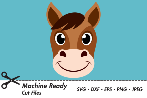 Download Free Cute Boy Horse Face Graphic By Captaincreative Creative Fabrica for Cricut Explore, Silhouette and other cutting machines.