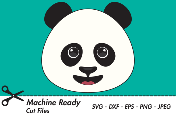 Download Free Cute Boy Panda Bear Face Graphic By Captaincreative Creative for Cricut Explore, Silhouette and other cutting machines.