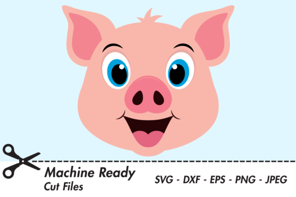 Download Free Cute Boy Pig Face Graphic By Captaincreative Creative Fabrica for Cricut Explore, Silhouette and other cutting machines.