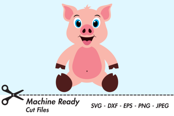 Download Free Cute Boy Pig Graphic By Captaincreative Creative Fabrica for Cricut Explore, Silhouette and other cutting machines.