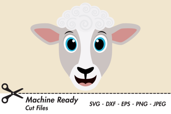 Download Free Cute Boy Sheep Face Graphic By Captaincreative Creative Fabrica for Cricut Explore, Silhouette and other cutting machines.