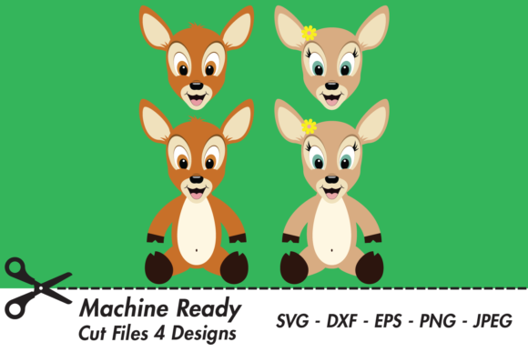 Print on Demand: Cute Woodland Deer Bundle Graphic Crafts By CaptainCreative