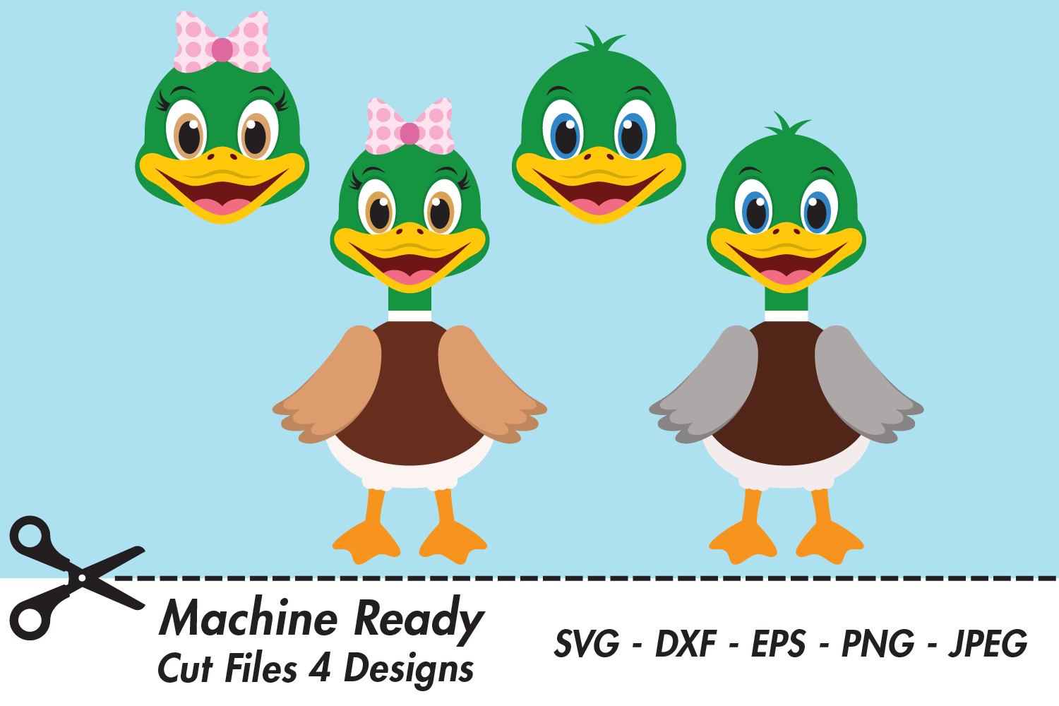 Download Free Cute Woodland Duck Bundle Graphic By Captaincreative Creative for Cricut Explore, Silhouette and other cutting machines.