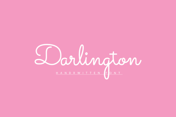 Print on Demand: Darlington Script & Handwritten Font By AndriyFM