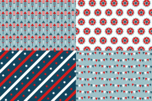 Digital Paper Happy 4th of July Graphic Patterns By Sweet Shop Design 3