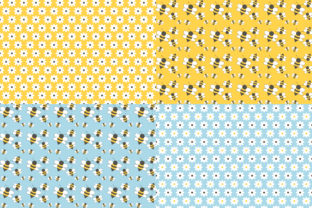 Digital Paper Honey & Bees Graphic Patterns By Sweet Shop Design 2