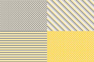 Digital Paper Honey & Bees Graphic Patterns By Sweet Shop Design 4