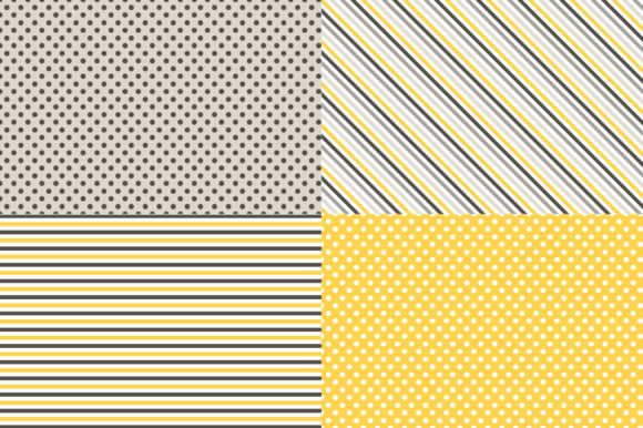 Digital Paper Honey & Bees Graphic Patterns By Sweet Shop Design - Image 4