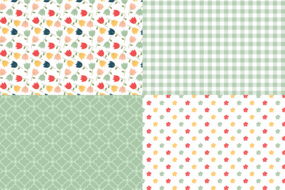 Digital Paper Pretty Flowers Graphic Patterns By Sweet Shop Design - Image 4