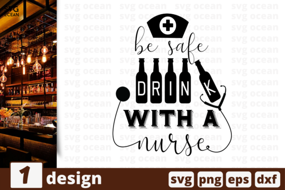 Download Free Drink With A Nurse Graphic By Svgocean Creative Fabrica SVG Cut Files