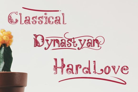 Download Free Dynastyan Font By Gblack Id Creative Fabrica for Cricut Explore, Silhouette and other cutting machines.