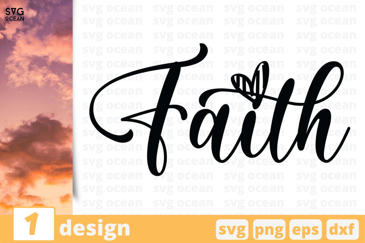 Download Free Faith Graphic By Svgocean Creative Fabrica for Cricut Explore, Silhouette and other cutting machines.