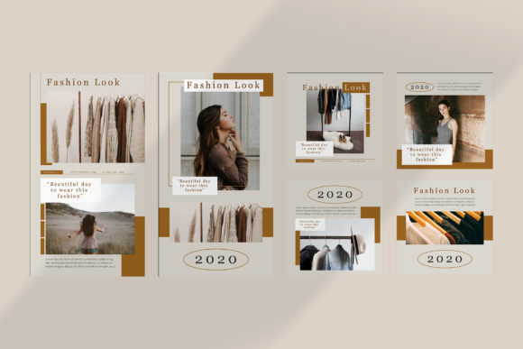 Download Free Fashion Instagram Templates Vector Graphic By Qohhaarqhaz for Cricut Explore, Silhouette and other cutting machines.