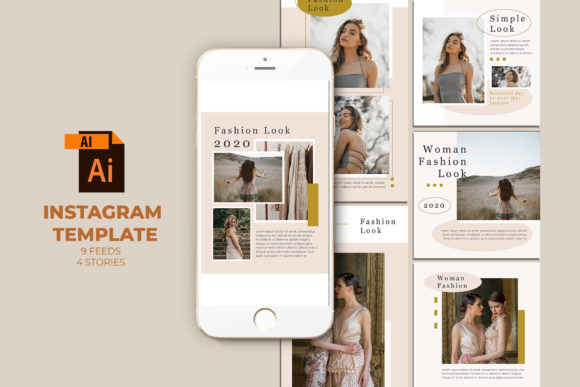 Fashion Instagram Templates Vector Grafik Web-Elemente von qohhaarqhaz
