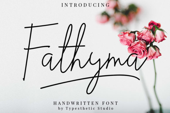 Print on Demand: Fathyma Manuscrita Fuente Por Typesthetic Studio