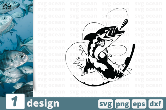 Download Free Fishing Graphic By Svgocean Creative Fabrica for Cricut Explore, Silhouette and other cutting machines.