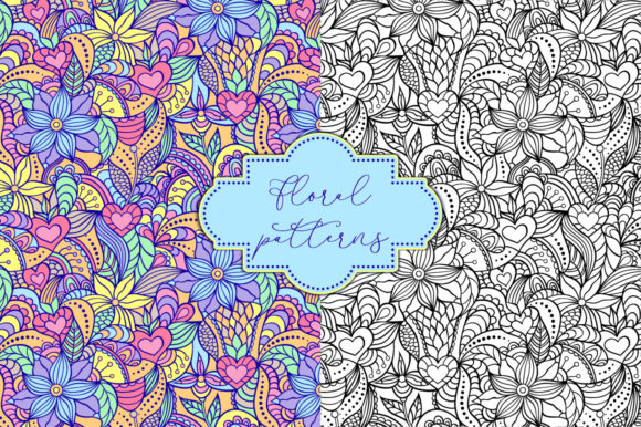 Floral Patterns Graphic Patterns By fatamorganaoptic