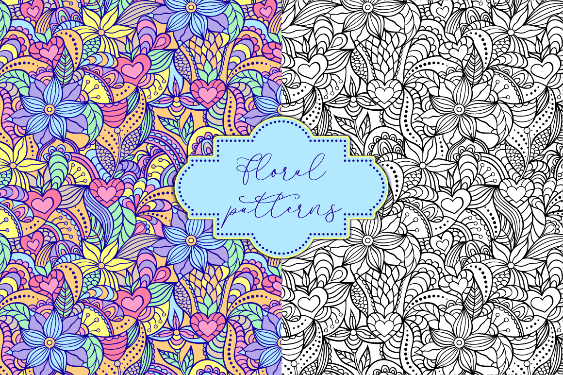 Download Free Floral Patterns Graphic By Fatamorganaoptic Creative Fabrica for Cricut Explore, Silhouette and other cutting machines.